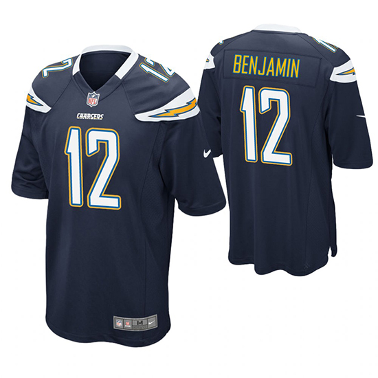 Camiseta NFL Game Hombre San Diego Chargers Travis Benjamin Azul